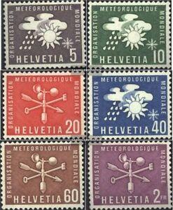 Schweiz-WMO1-WMO6-kompl-Ausg-gestempelt-1973-Meteorologie