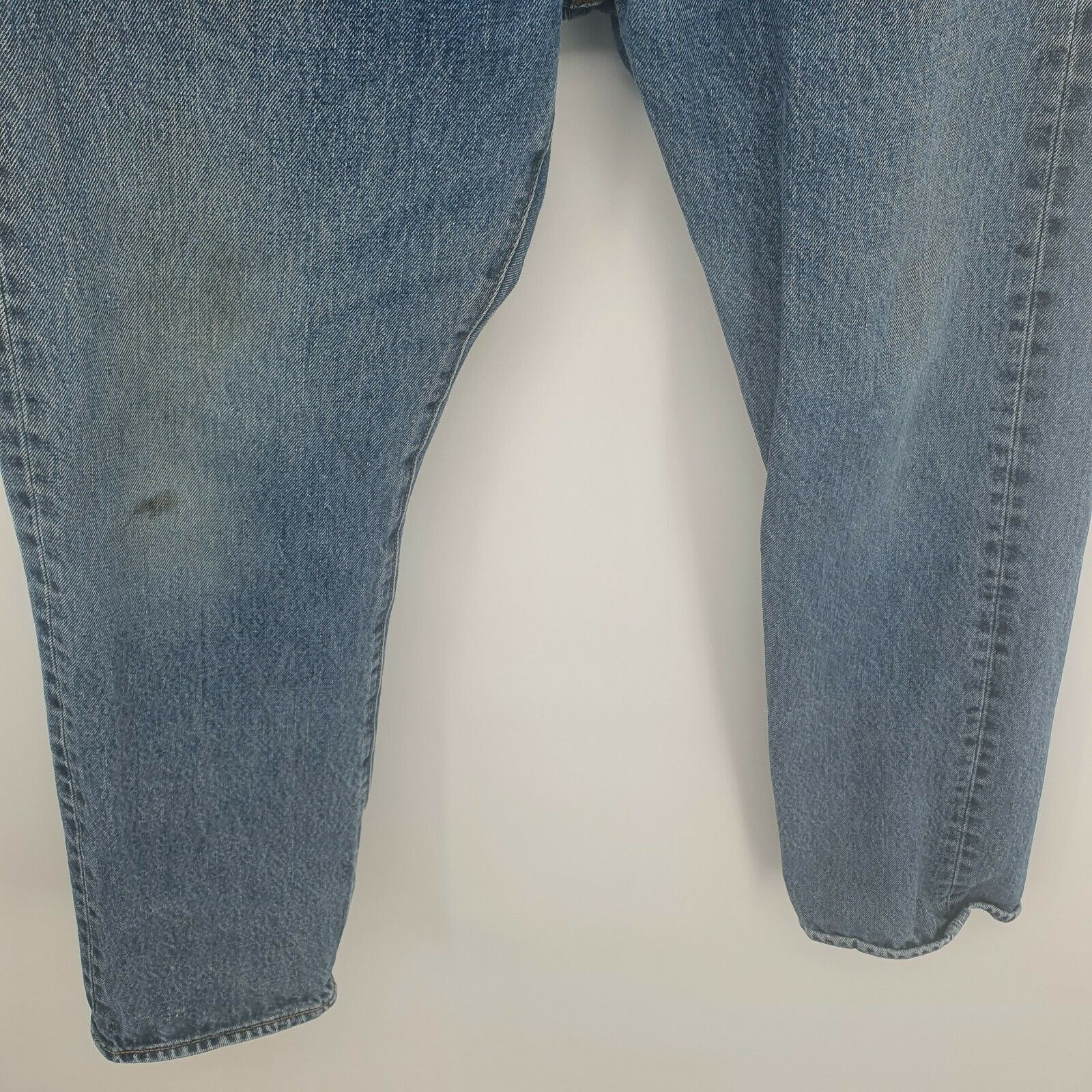 Levis 501 Distressed Jeans Button Fly Light Wash… - image 6