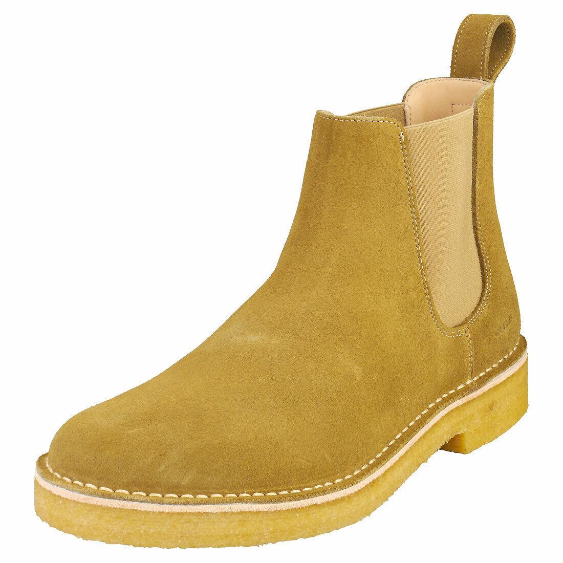 Clarks Originals Desert Chelsea2 Mens Olive Suede Chelsea Boots