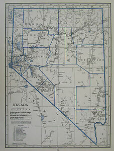 Details about Vtg 1931 NEVADA RAILROAD MAP NV Black White Blue Historic on nevada military map, nevada transportation map, nevada map with latitude and longitude, nevada speed limit map, nevada farms, nevada gold maps, carlin trend nevada map, nevada largest cities, nevada transmission line map, nevada rivers, nevada lakes map, freight train routes california map, nevada road map, u.s. geothermal map, eagle valley nevada map, nevada utilities map, nevada reservoirs, nevada abandoned railroads, nevada on map, nevada gis geologic maps,