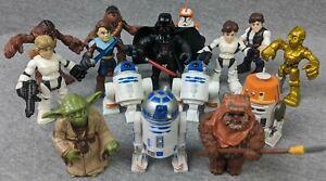 Lot-of-15-Star-Wars-Misc-Galactic-Heroes-Jedi-Force-Figures-Vader-Skywalker-R2D2