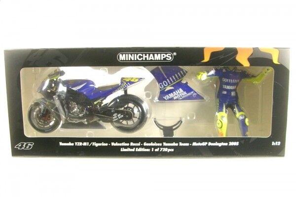 Set Yamaha YZR-M1 no.46 + Figurine Valentino Rossi - MotoGP Donington 2005