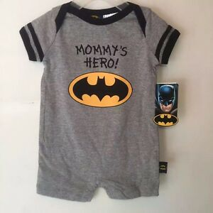 New-Toddler-Baby-Romper-Jumpsuit-Playsuit-Outfits-Clothing-Batman-Mommy-039-s-Hero