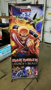 Iron Maiden Stern Pinball Banner