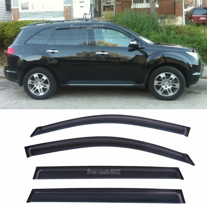 Fit 07-13 Acura MDX 4Pcs Rain Vent Shade Wind Deflector