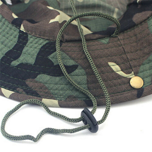 Bucket Hat  Hunting Fishing Outdoor Sun  Cap Wide Brim Military Unisex Sun CamoZ