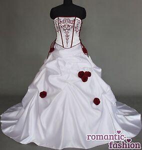 Zweifarbiges-Brautkleid-Massanfertigung-alle-Groessen-Weiss-oder-Creme ...
