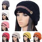 Fashion Womens Braided Winter Warm Baggy Beanie Knit Slouch Crochet Ski Hat Cap