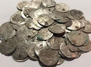 Lot 5 original Islamic silver para coins/Ottoman Empire Abdul Hamid Selim Mahmud