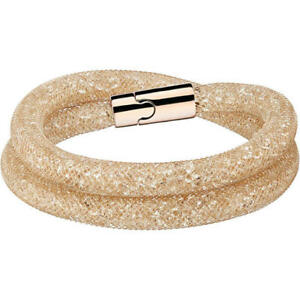 Bracelets 100% Authentic Swarovski Gold Stardust Double Wrap Bracelet Bn