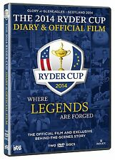 40. Ryder Cup 2014 Official Film + Diary 2er [DVD] NEU Gleneagles Europa vs. USA