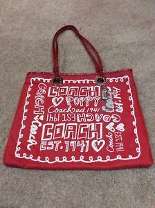 Rot Coach Style Tote Mohnblume 13857 Evie xn0wn6qfYC