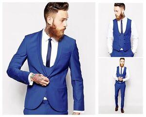 Royal Blue Men S Wedding Tuxedos Groom Best Men Suits Business Party