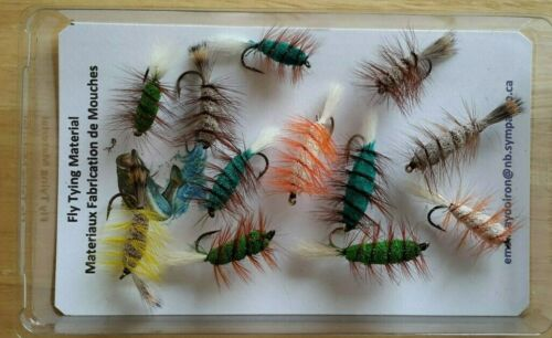 Flies.Thread Craft Mohair Fly Tying Feather Rooster Schlappen Saddle Hackle
