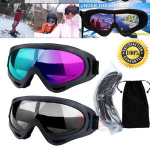 2Pack-Ski-Goggles-Snowboard-Snow-Winter-Sports-Anti-Fog-Glare-Lens-UV400-Glasses