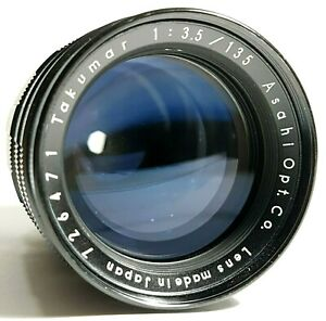 Pentax-Takumar-135mm-f3-5-Preset-Tele-prime-lens-with-Hood-UK-Schnelle-Post