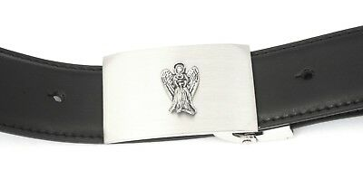 Flying Angel Buckle And Belt Set Black Leather Ideal Angel Gift 005