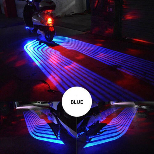 2X Angel Wings LED Projector Auto Car Motorcycle Courtesy Shadow Welcome Light *