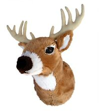 "ADORE 13"" Boone the Whitetail Deer Stuffed Animal Plush Walltoy Wall Mount"