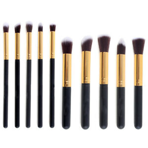 10pcs-Pro-Makeup-Brush-Set-Cosmetic-Foundation-Blending-Brushes-Kabuki-Black