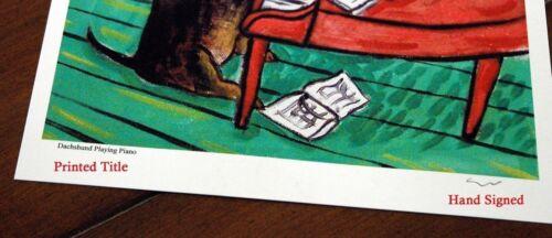 Dachshund PLAYING CLARINET 13x19 glossy photo dog art print poster JSCHMETZ
