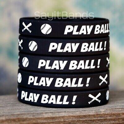 Wholesale Wrist Band Bracelet Lot Set of BASEBALL Thread Silicone Wristbands