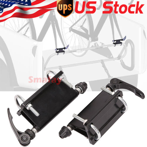 A PAIR FOR PICKUP BICYCLE BLOCK QUICK RELEASE FORK MOUNTS TRUCK BED RACK CARRIER