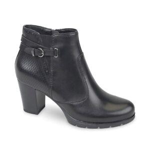VALLEVERDE 46106 Tronchetto scarpe stivaletto tacco pelle