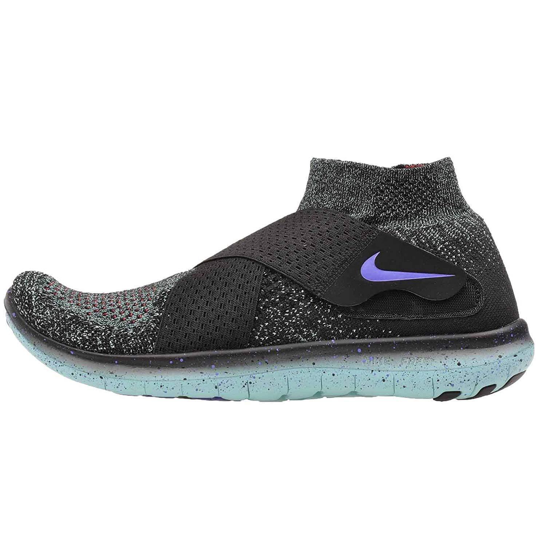 Nike Women's Free RN Motion Flyknit 2017 Running Shoe - BLACK/PERSIAN VIOLET