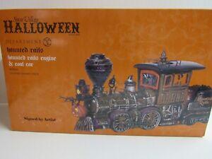 Dept 56 Snow Village Halloween Haunted Rails Engine And Coal Car 800001