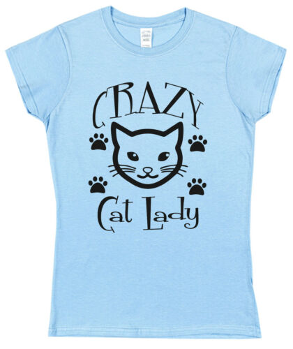 CRAZY CAT LADY T-SHIRT Christmas Present Birthday Gift Mother/'s Day Pet Lover