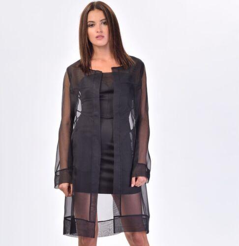 10 S Women Taglie Camicetta Lunga Top Seta Italian 12 M Designer Nwt Au 100 8 305 pATqFF