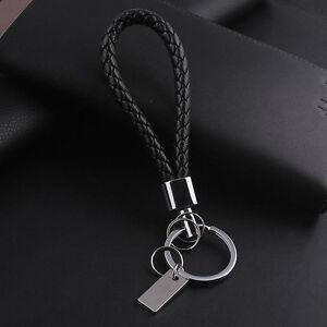 Fashion Women Men Luxury Leather Key Chain Ring Car Keychain Keyring