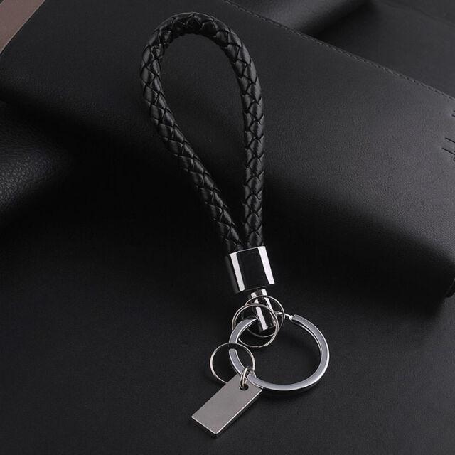 Fashion Women Men Luxury Leather Key Chain Ring Car Keychain Keyring Keyfob Chic
