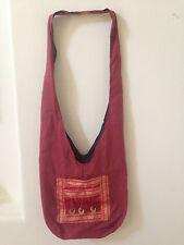 Monk Buddha Cotton Hippie Hobo Crossbody Sling Shoulder Bag Purse Unisex Travel