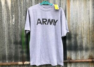 NEW-GENUINE-US-ARMY-ISSUE-IPFU-GREY-PHYSICAL-FITNESS-PT-T-SHIRT-SMALL