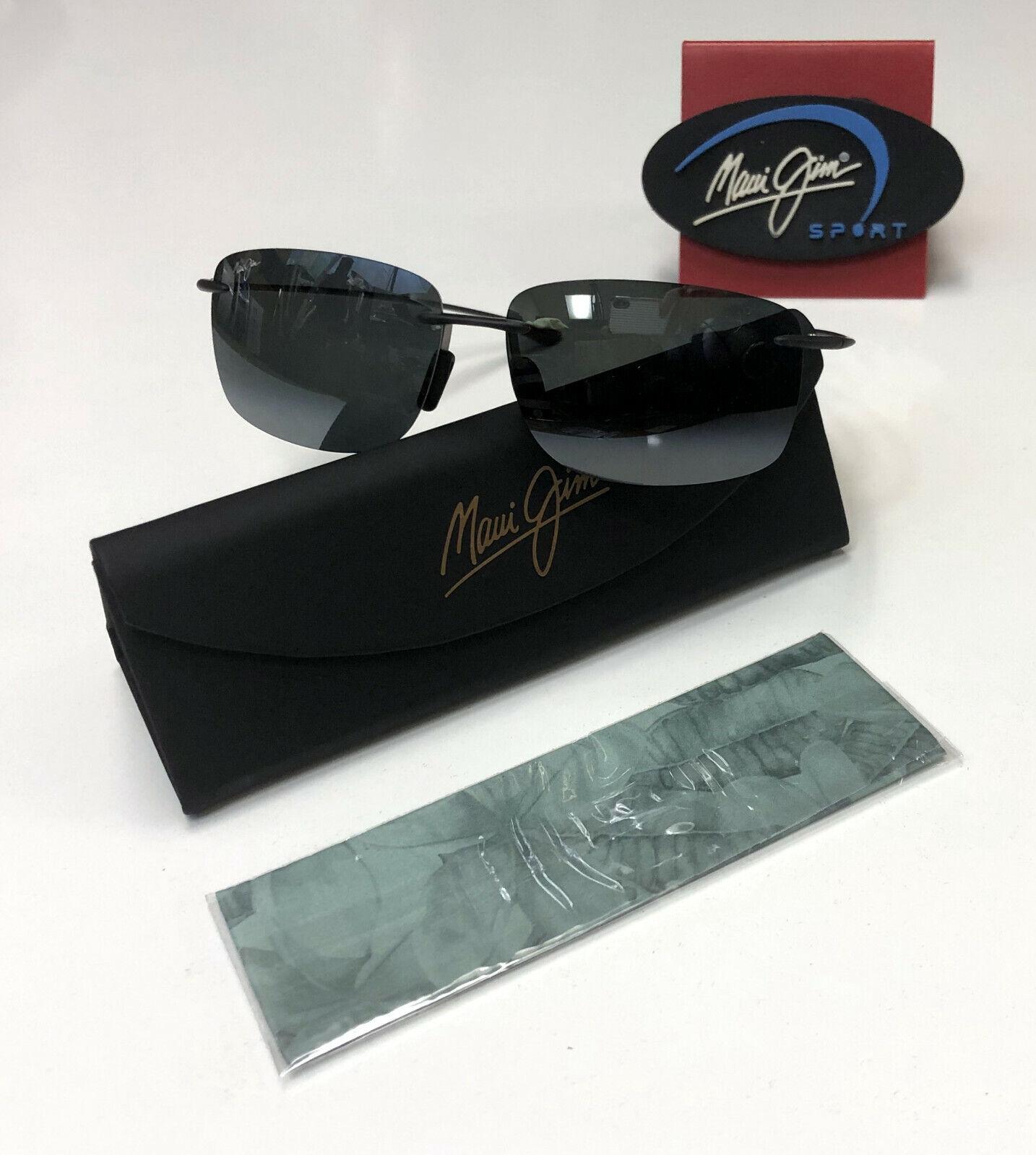 Maui Jim Sunglasses Hema 443-11M Matte Grey Neutral Grey Polarized