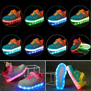 new product 5d712 922c1 Details zu Kinder LED Glow Blinkschuhe Aufladene Licht Schuhe Kinderschuhe  Sneakers 7 Farbe