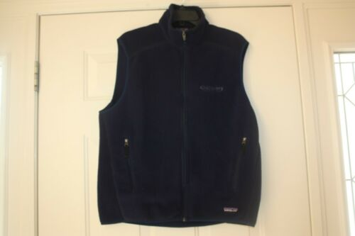 Patagonia Synchilla Mens Navy Vest Size L Fleece Large zZ8zWndFH