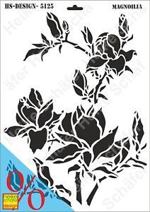 Schablone-Stencil-A3-316-5125-Magnolia-Neu-Heike-Schaefer-Design
