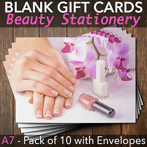 Image Is Loading Gift Voucher Card Beauty Nail Salons Technicians