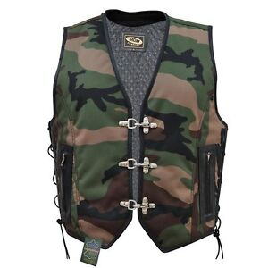Waistcoat Camouflage Details Chopper Cowl Mens Vest Title Club About Show Biker Original sdQCtxhr