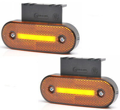 Neu 10 Stück x 6 LED 24V Orange Leuchte Lampe Begrenzungsleuchte Umrißleuchte