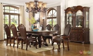 Details About Cau Traditional 9 Piece Formal Dining Room Set Table Chairs China Cabinet