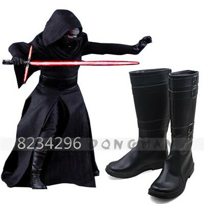 Star Wars 7 VII The Force Awakens Sith Lord Kylo Ren Shoes Boots Cosplay Costume
