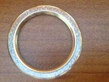 Rare Authentic GUCCI 1100/1200 Series Watch GOLD Diamond Cut Bezel ~ MINT
