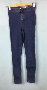 Topshop-Petite-Dark-Blue-High-Waist-Joni-Skinny-Jeans-W26-L28-Size-8-B63