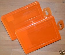 Two Genuine Stihl Chainsaw Chain Parts Storage Box Boxes 0000 882 5900 Tracked