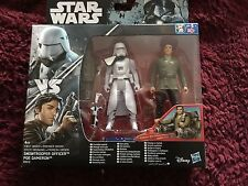 Star Wars  Snow Trooper officer  and  Poe Dameron  figure set