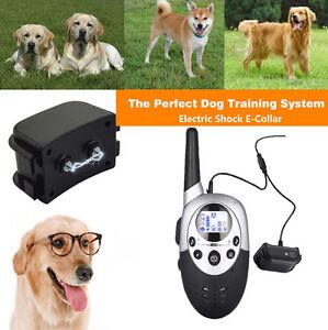 1000M-Collier-de-dressage-pour-chien-electrique-chock-PORTEE-avec-Telecommande